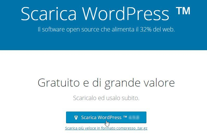 pulsante download wordpress